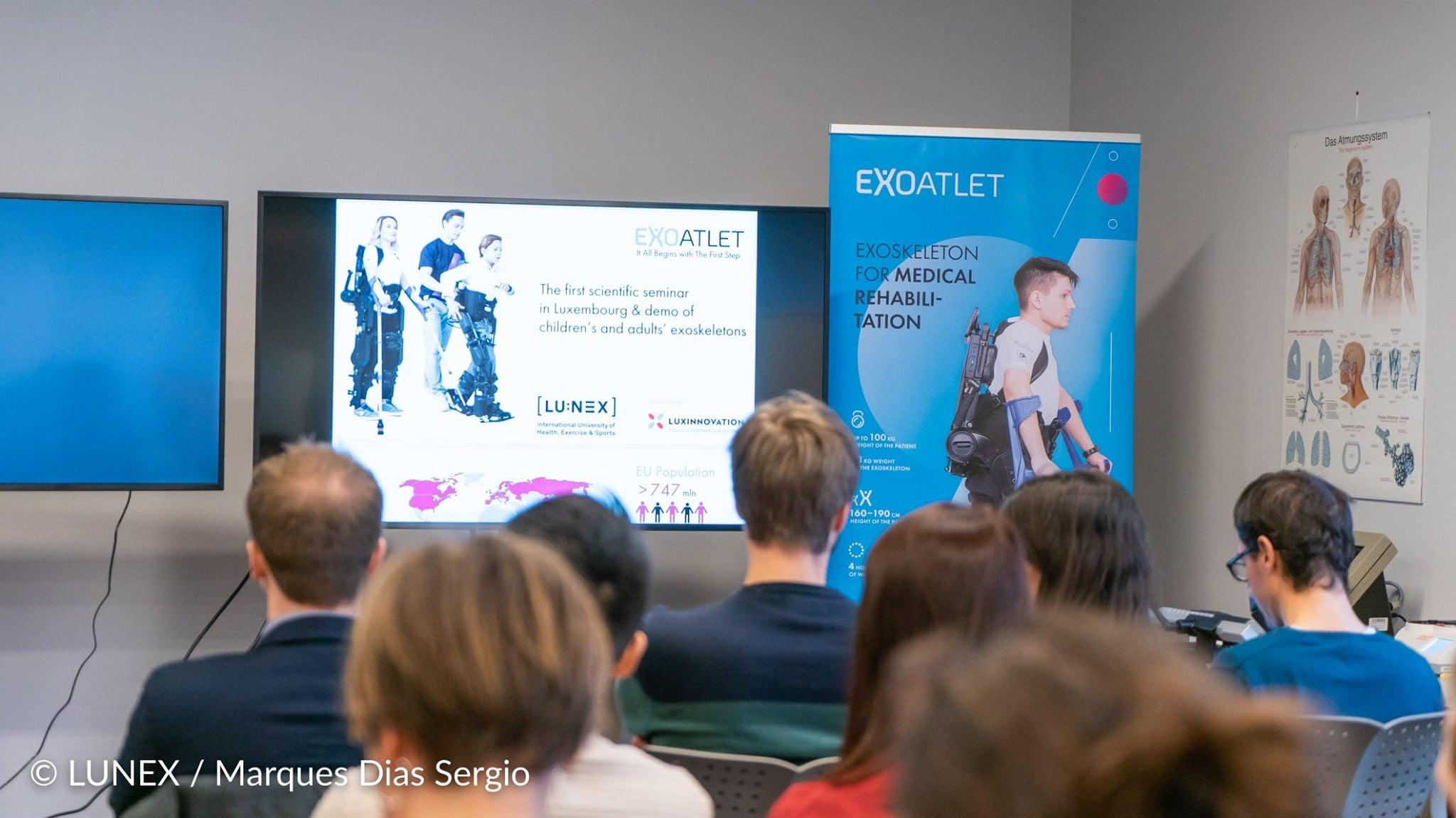 Presentation of the ExoAtlet Workshop organized at LUNEX University