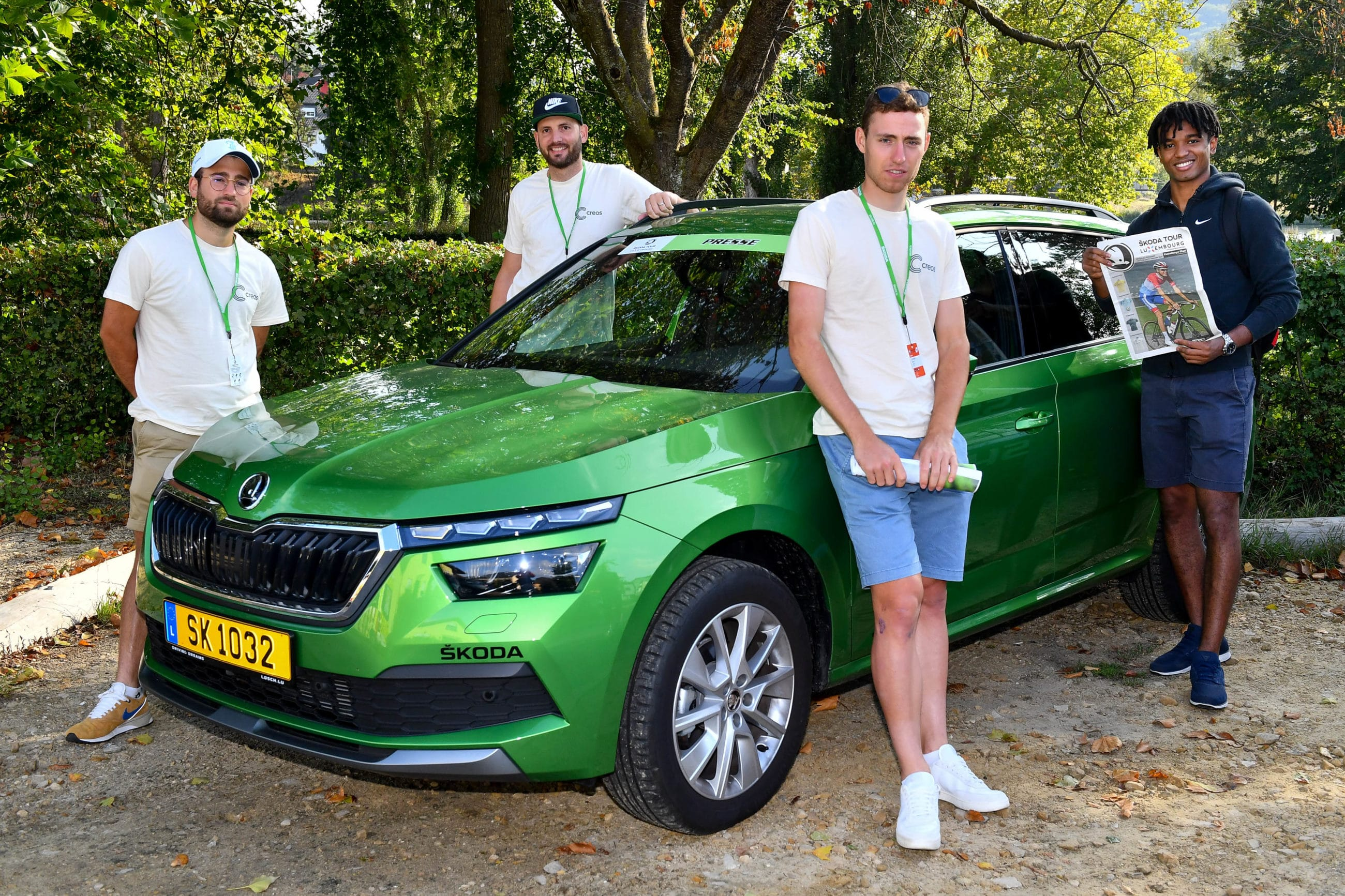 LUNEX students participating in the Skoda Tour de Luxembourg
